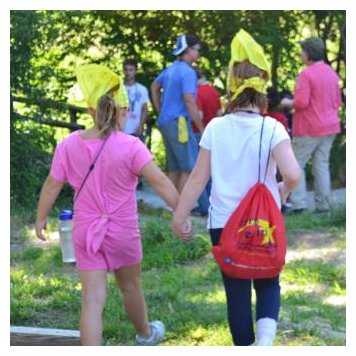 campers holding hands